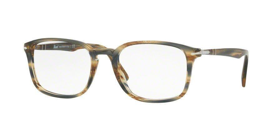 Persol PO3161V Striped Brown Grey 54 Eyesize