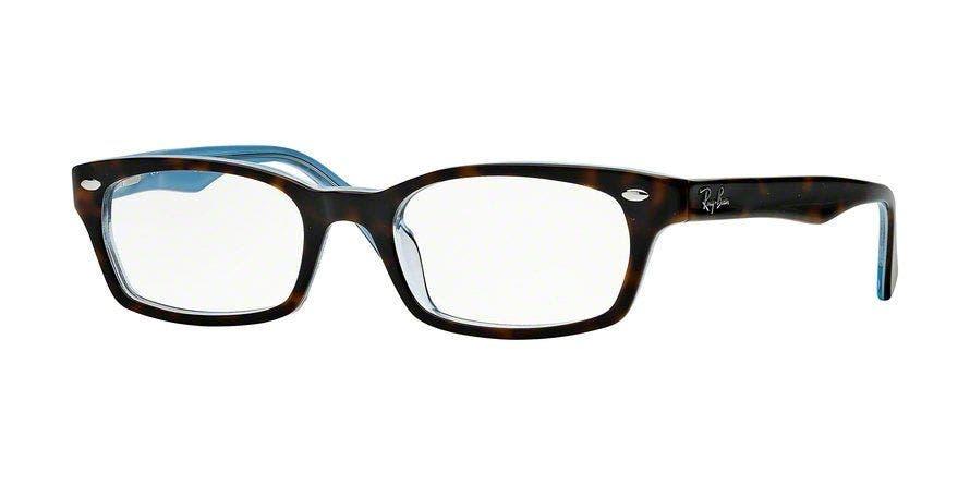 Ray-Ban RB5150 Top Havana on Transparent Azure 50 Eyesize