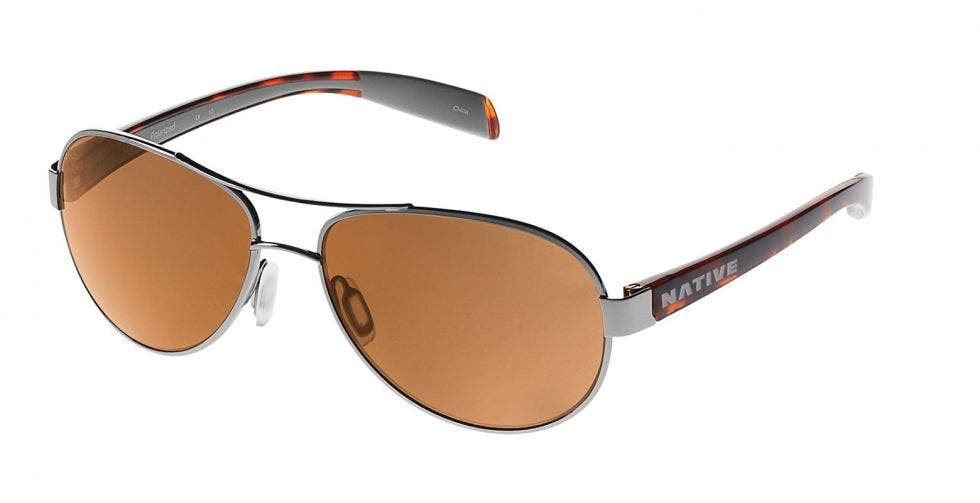 Native Eyewear Haskill Chrome / Maple Tortoise / Light Grey