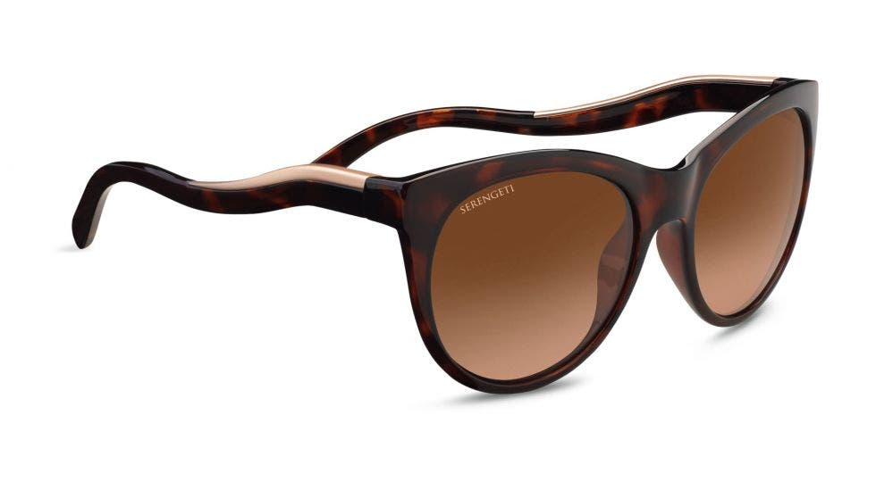 Serengeti Valentina Shiny Dark Tortoise / Satin Rose Gold RX