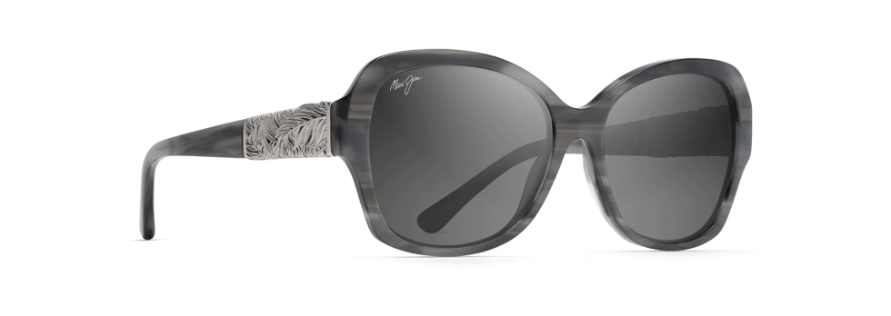 Maui Jim Swaying Palms Blue Grey and Pearl w/ White Gold