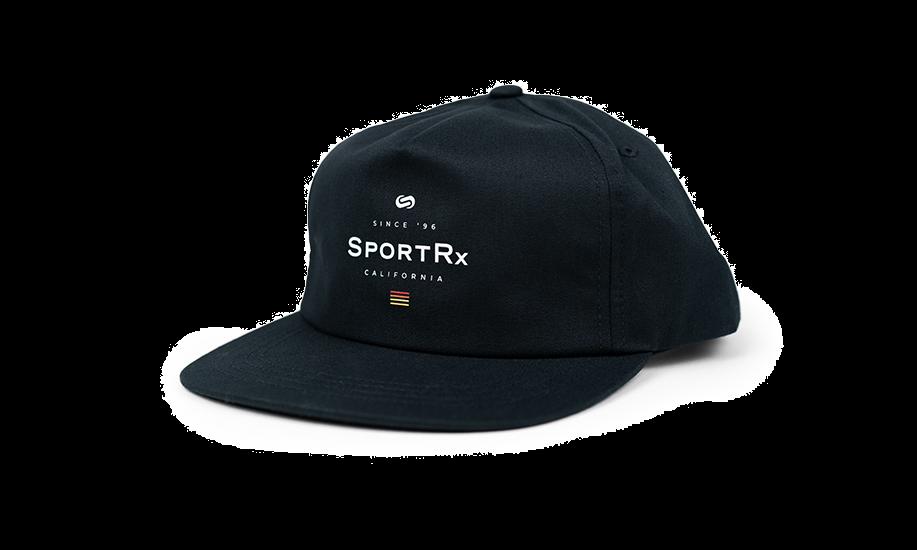 SportRx Snapback Hat Black