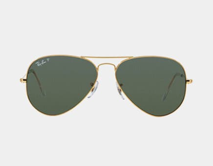 ray ban aviators with prescription featuring the ray ban rb3025 aviator sunglasses in arista gold with g-15 green polarized lenses