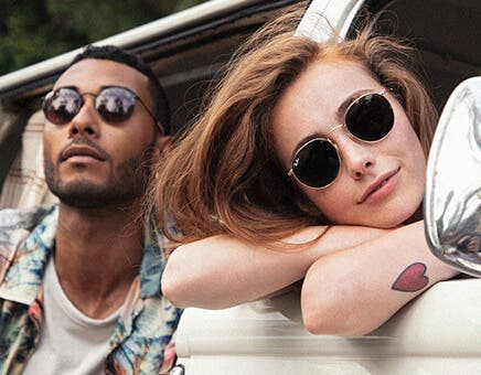 ray ban round glasses featuring the ray ban rb3447 round metal sunglasses in arista gold with g-15 green lenses