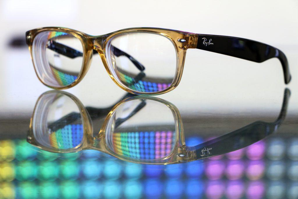 Original Wayfarers with clear prescription lenses