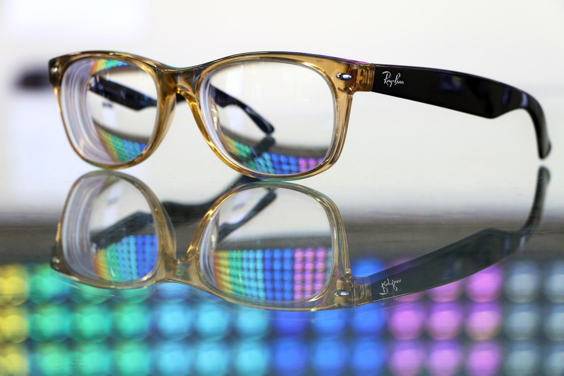 63c6ee5065 Original Wayfarers with clear prescription lenses