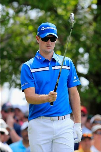 Justin Rose Wearing Adidas Retego Golf Sunglasses at 2014 Masters Tournament
