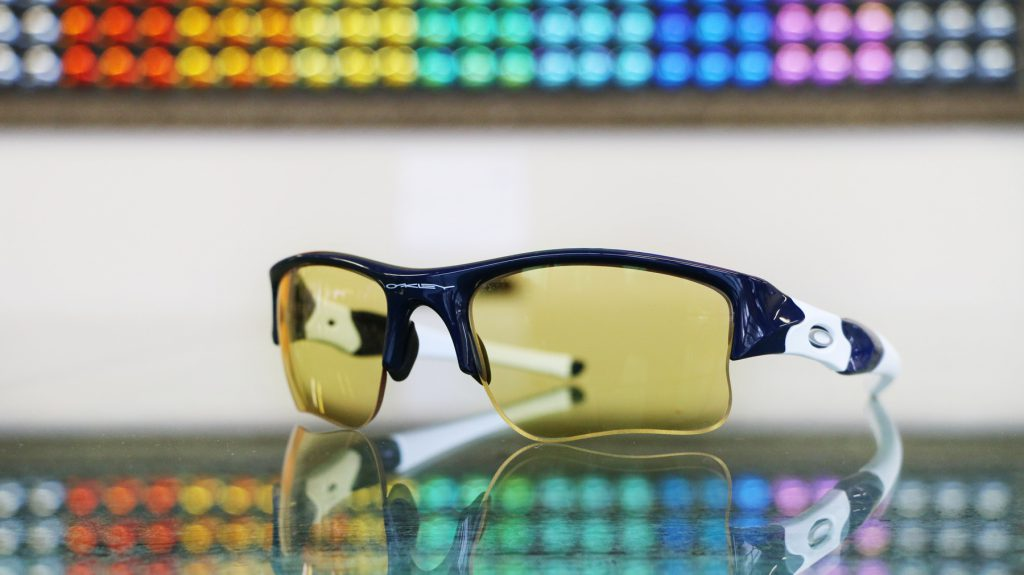 Over It Custom Lenses for Overcast in Oakley Flak Jacket XLJ