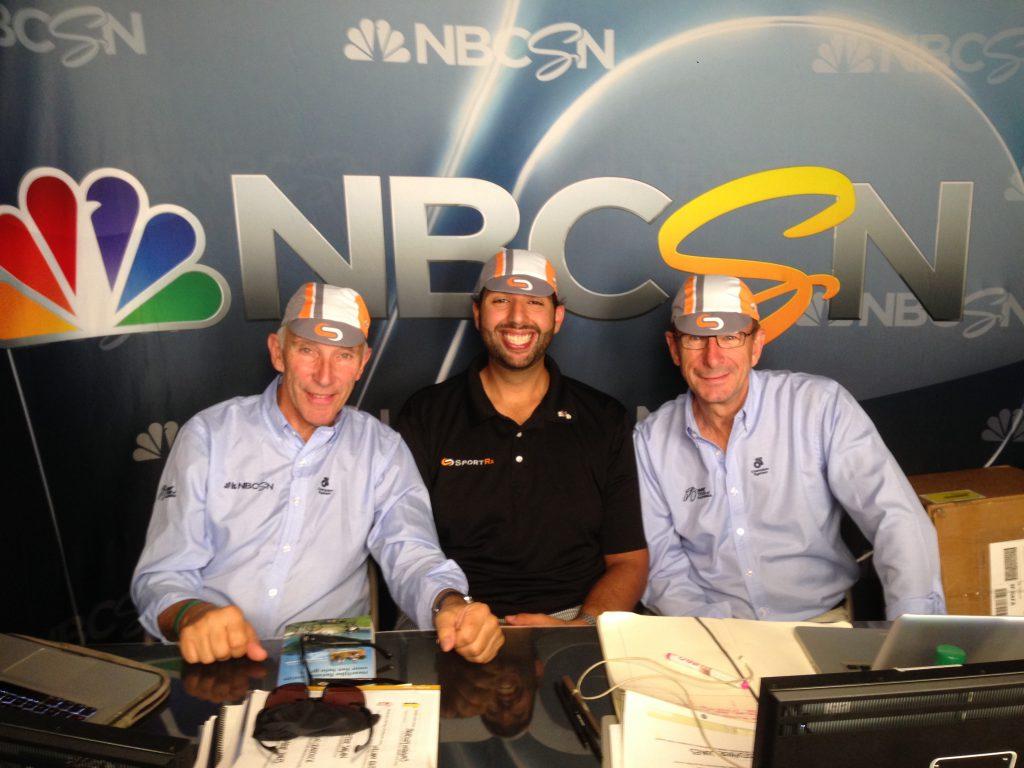 Paul Sherwen and Phil LIgget at Tour de California