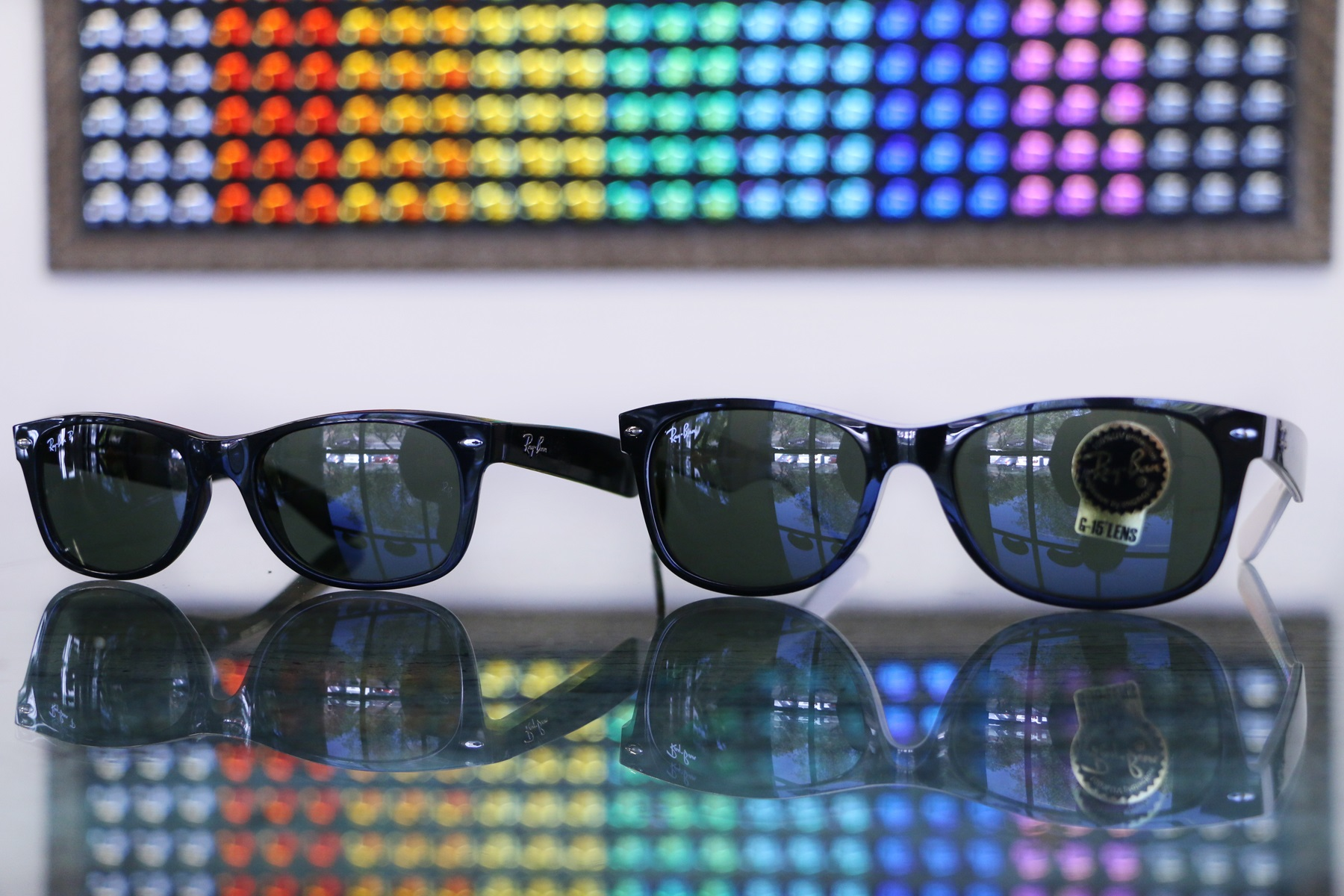 Ray Ban New Wayfarer 52 vs 55 eye size