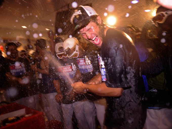 Dodgers Clinch NL West Championship in Oakley Air Break