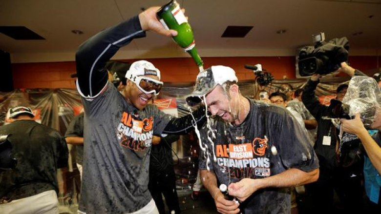 Orioles Clinch AL East in Under Armour Goggles