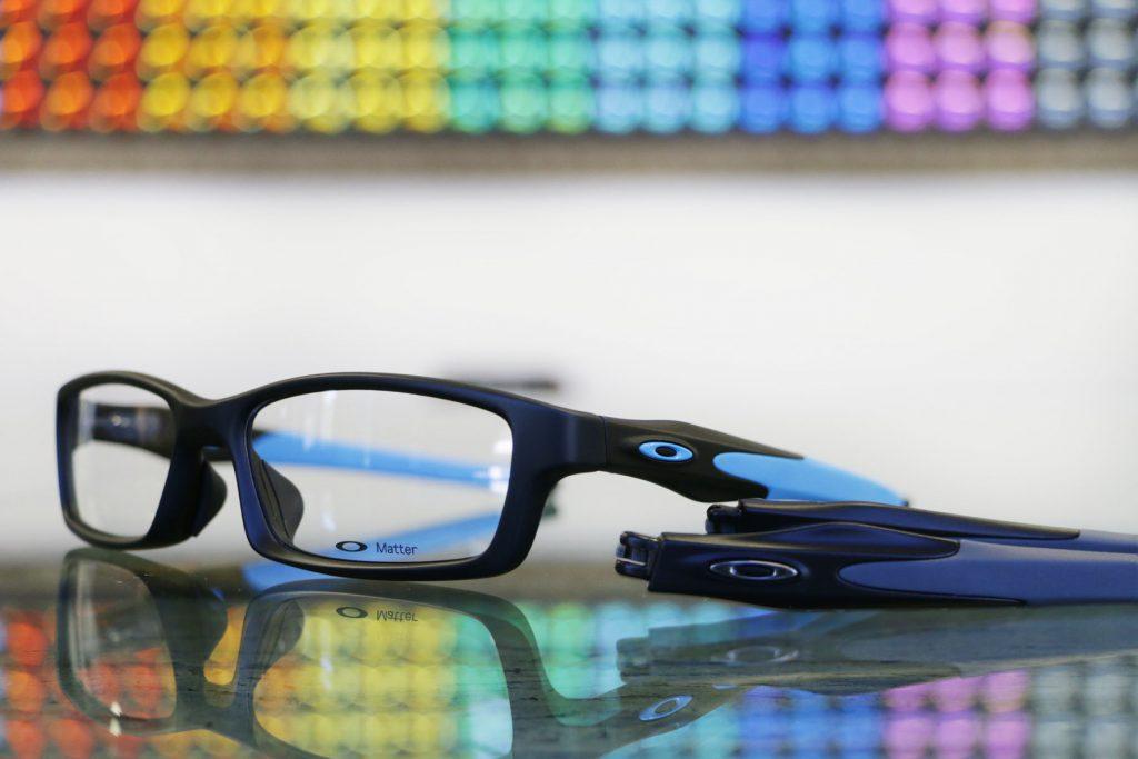Oakley Crosslink Satin Black Sky Blue Asian Fit 56 eyesize