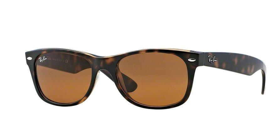 Ray-Ban New Wayfarer 52 Eyesize in Light Havana with Crystal Brown Lenses