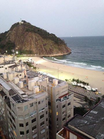 The Water of Copacabana Beach was Clear as Can Be
