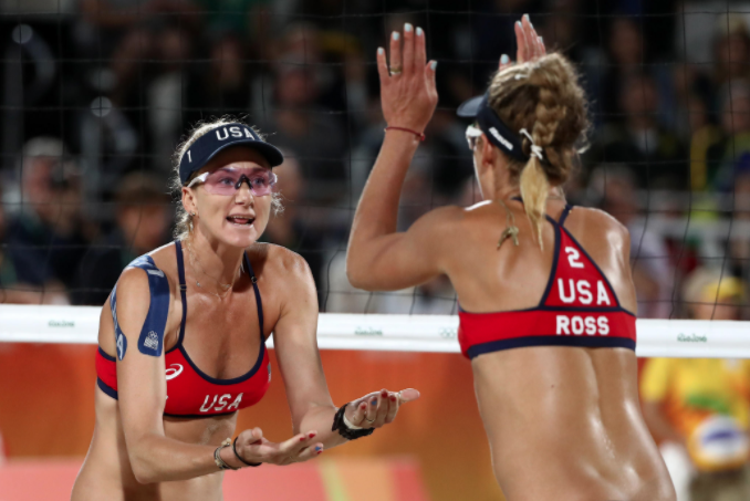 Kerri Walsh and April Ross in Oakley Prizm Glasses, Rio 2016