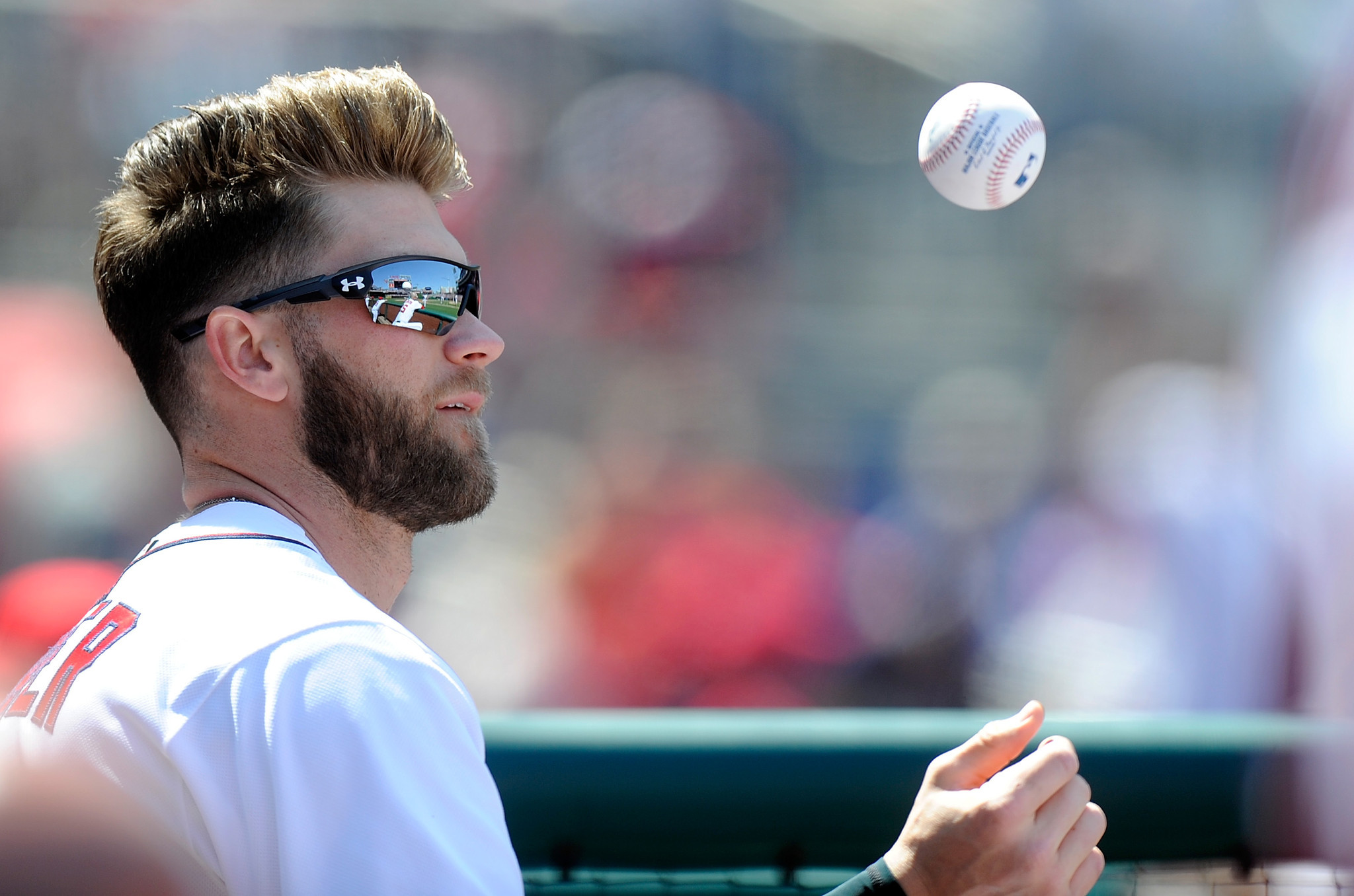 Bryce Harper wearing the Under Armour Freedom Rival