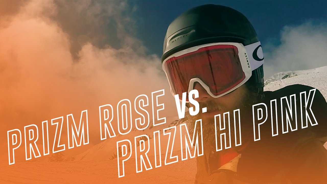 Oakley PRIZM HI Pink vs Rose | Oakley's Low Light Goggle Lenses