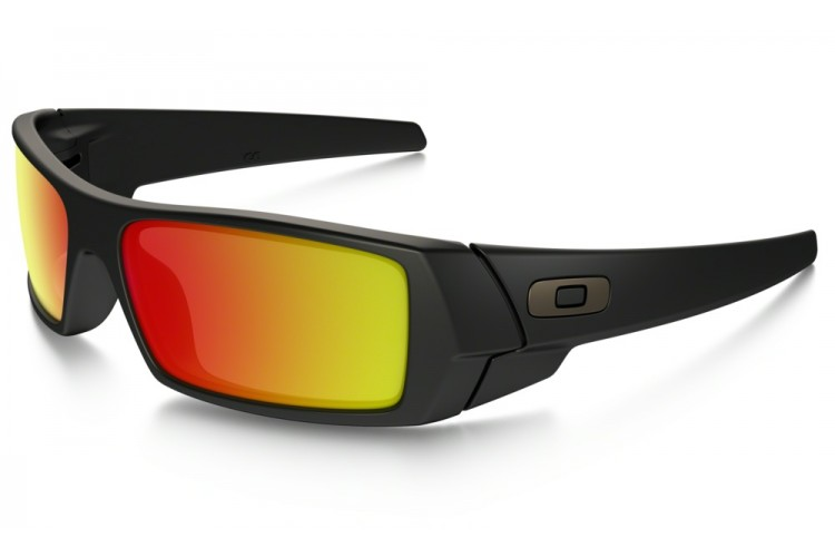 46054c89513 Oakley Gascan in Matte Black with Ruby Iridium lens