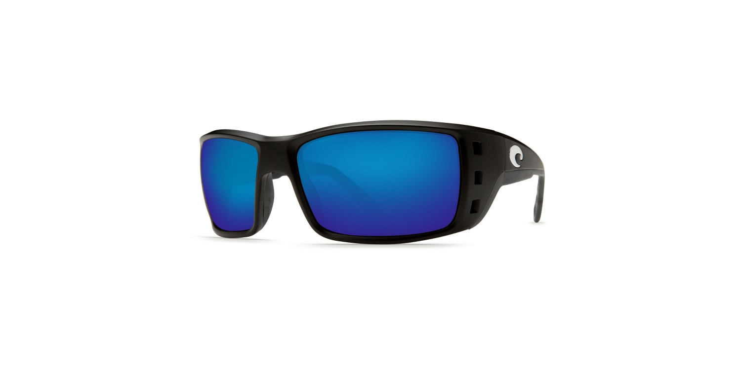 52fc54c0090 Costa Permit in Matte Black with Blue lens