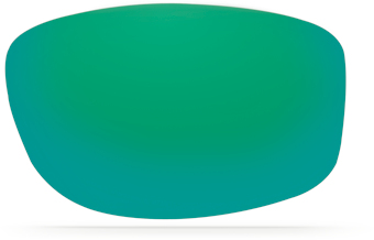 Green Mirror Lens, Costa Fishing sunglass lens
