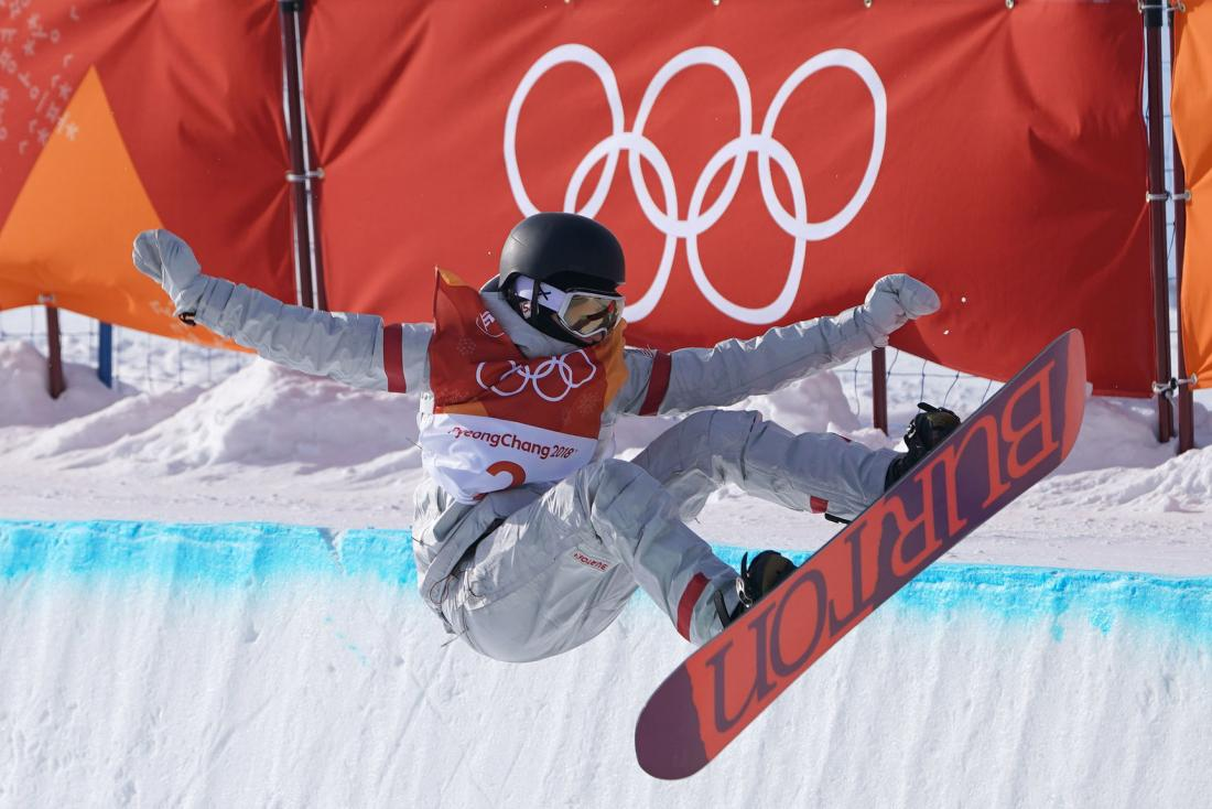 Kelly Clark Wearing Anon M3 at the 2018 Winter Olympics