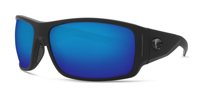 544a106d9651 Costa Cape Costa Cape in Matte Black with 580 Blue Mirror Polarized lens