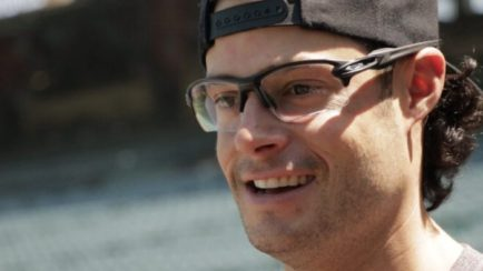 Joe Kelly's 2018 World Series Glasses in the Hall of Fame