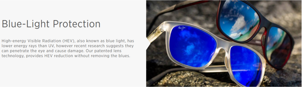 Maui Jim Polarized PLus2 Blue LIght Filter