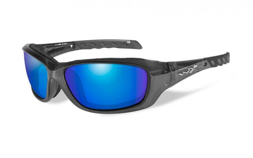 610f6949600 Best Motorcycle Sunglasses. Wiley X Gravity Wiley X Gravity in Black  Crystal with Blue Mirror Lenses