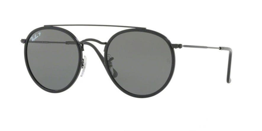 Ray-Ban RB3647N with Black Frames & Polarized Green