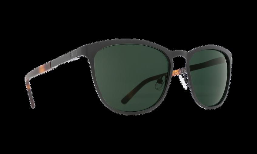 SPY Cliffside with Matte Black Frames & Matte Honey Tortoise- Happy Grey Green