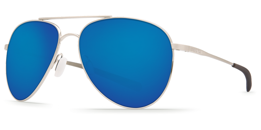 Costa Cook with Brushed Palladium Frames & Blue Mirror