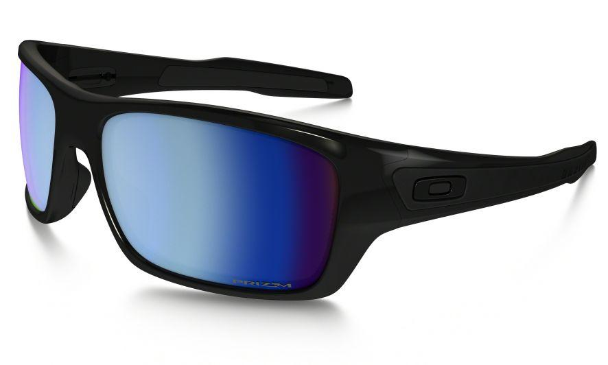 b1e1a9d60e1 Oakley Turbine in Polished Black with PRIZM Deep Water Polarized lenses