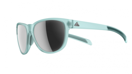 Adidas A425 Wildcharge Clear Aqua Matte with Chrome Mirror Lens