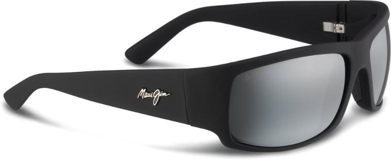 Maui Jim World Cup in Matte Black Rubber with Neutral Grey Lens