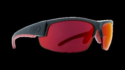 Spy Sprinter in Matte Black with Red Flash Mirror