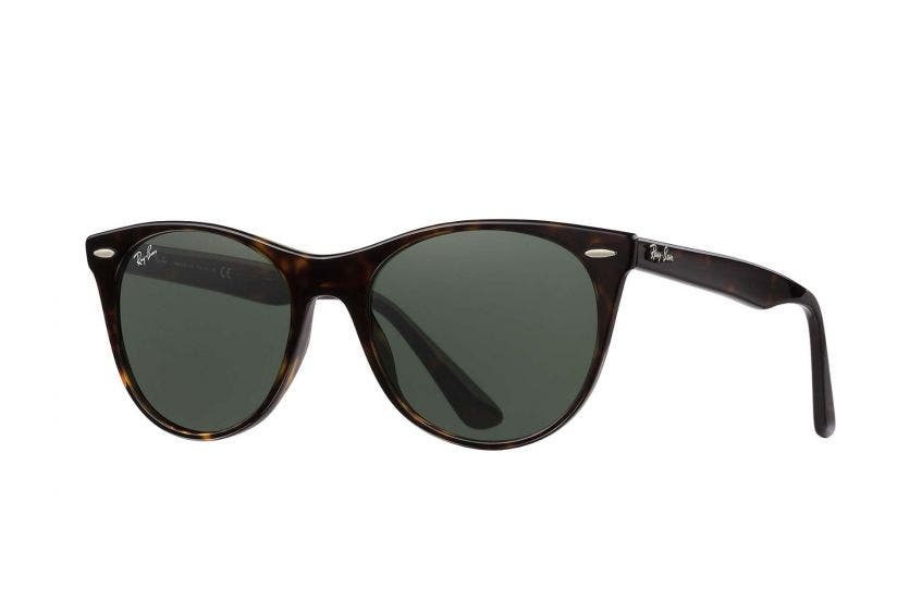 Ray-Ban RB2185 Wayfarer II with Havana Frames & Green Lenses
